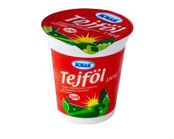 Sour cream in cups, 20% fat content
