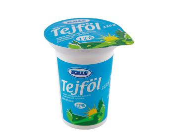 Sour cream in cups, 12% fat content